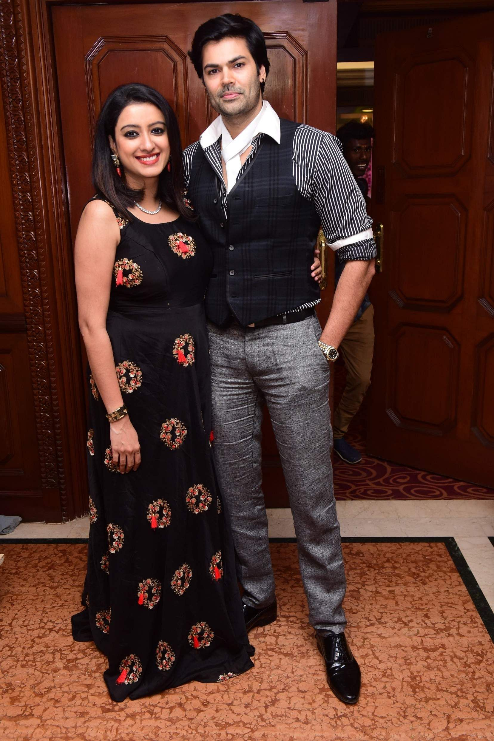 Nisha & Ganesh Venkatraman at the launch event of Karthik Srinivasan's calendar, Entwined