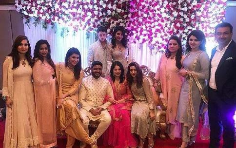 Priyanka Chopra and Nick with her family