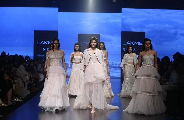 "A Shriya Som collection is always about glamour, style and ultra-elegance. Her Lakmé Fashion Week Summer/Resort 2019 line called ""Reverie"" took inspiration from the islands where the original raffia p"