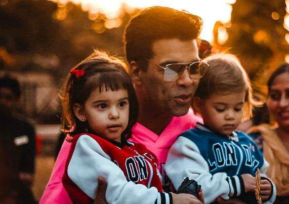 Karan Johar with his kids