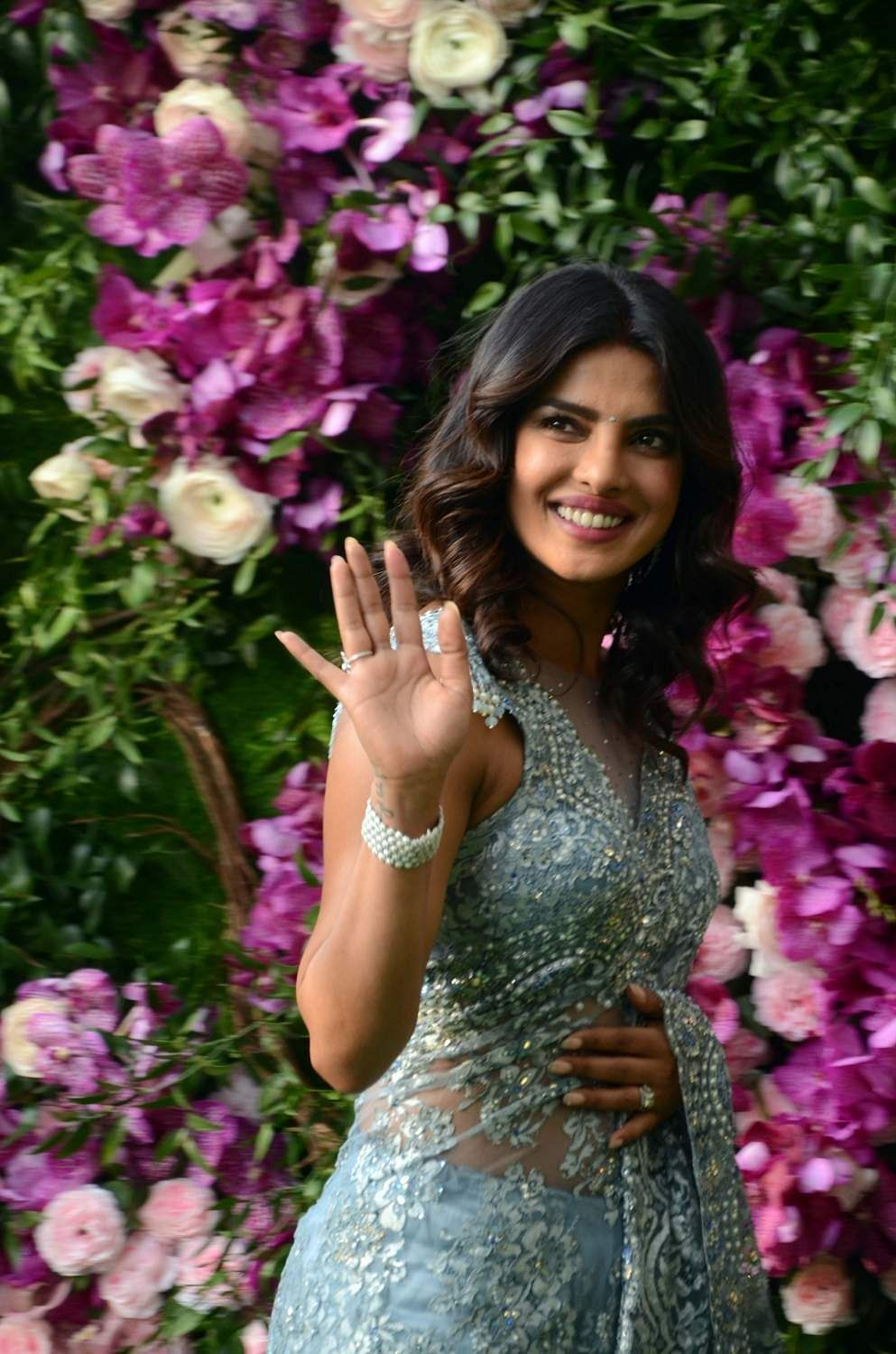 Priyanka Chopra at Akash and Shloka's wedding. (Photo: IANS)