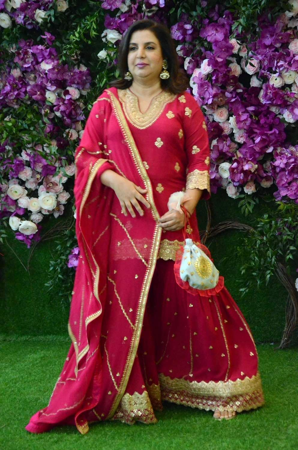 Filmmaker Farah Khan at the wedding festivities of Akash Ambani and Shloka Mehta in Mumbai on March 9, 2019. (Photo: IANS)