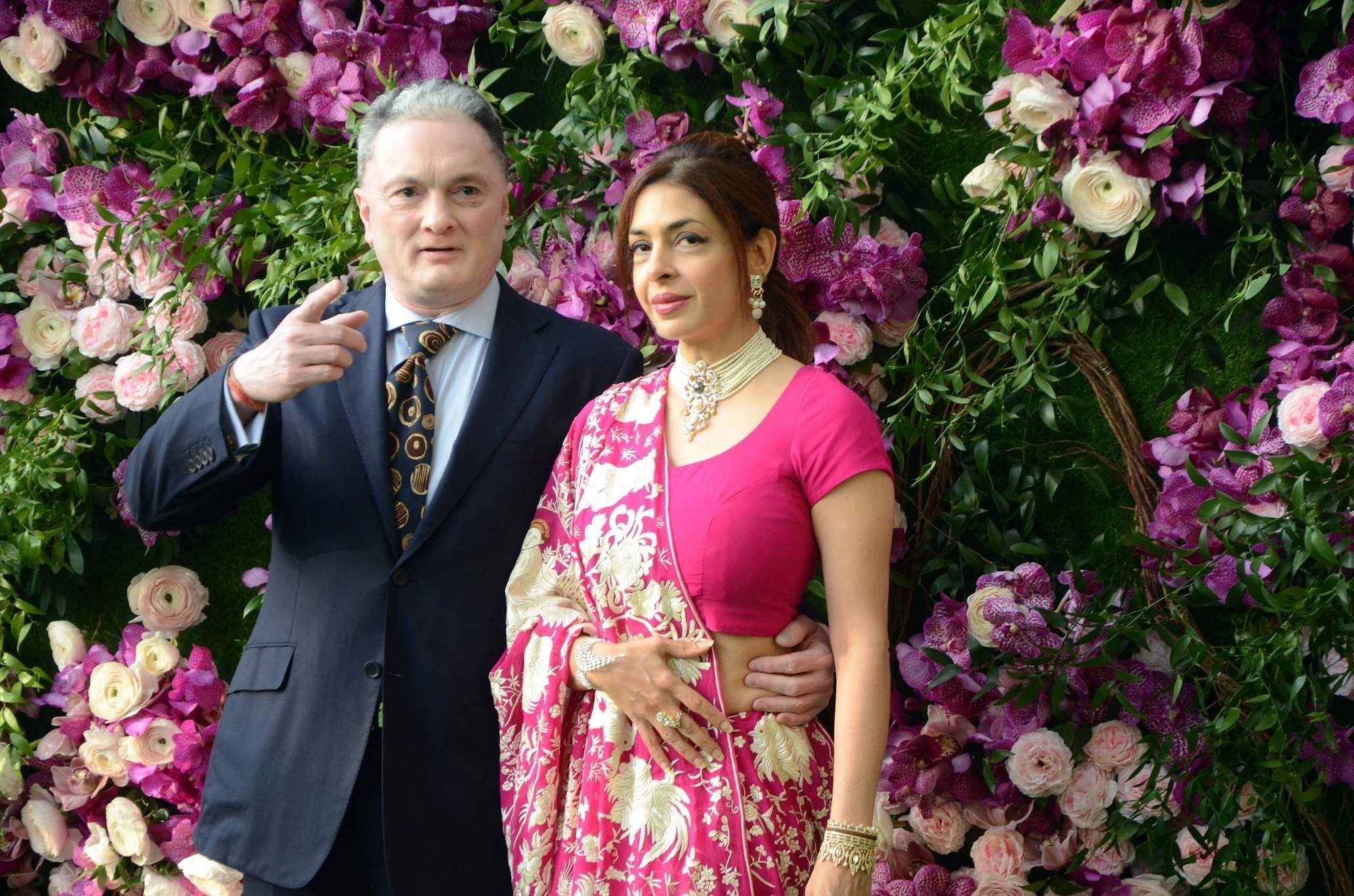 Raymond Group Chairman and Managing Director Gautam Singhania at the wedding festivities of Akash Ambani and Shloka Mehta in Mumbai on March 9, 2019. (Photo: IANS)