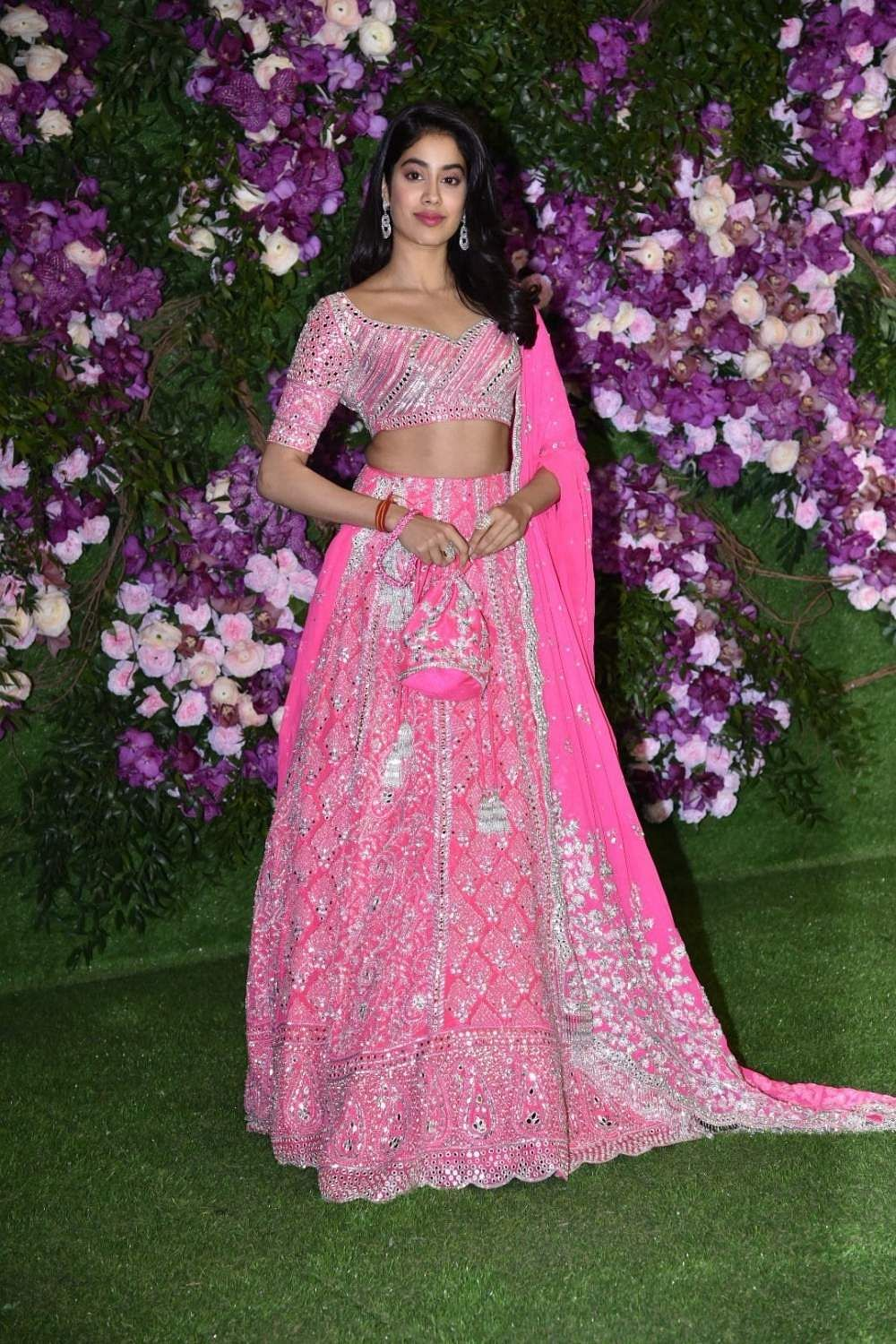 Actress Janhvi Kapoor at the wedding festivities of Akash Ambani and Shloka Mehta in Mumbai on March 9, 2019. (Photo: IANS)