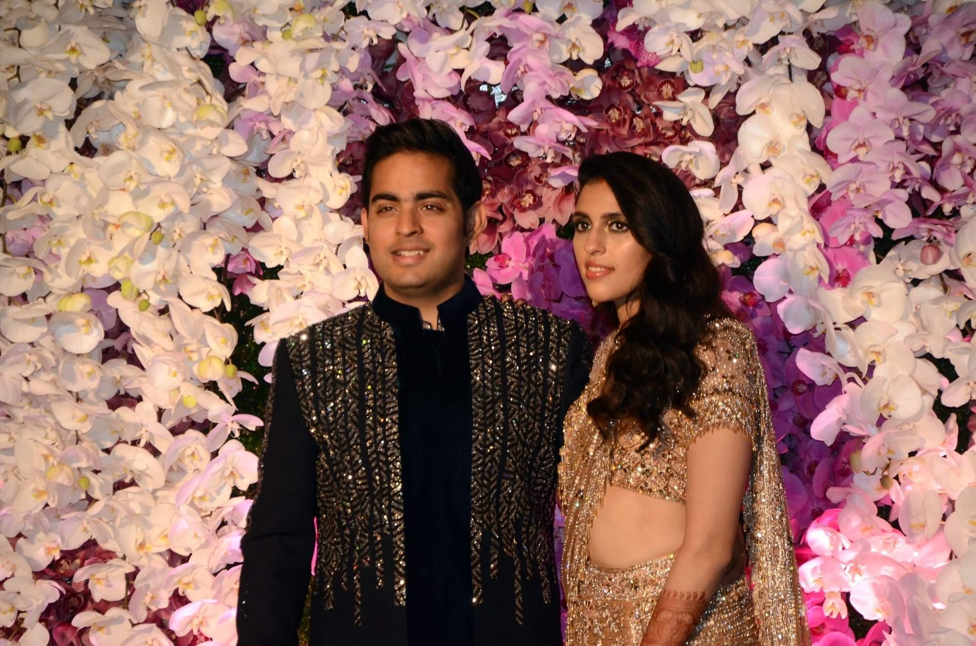 Akash and Shloka Ambani's wedding reception