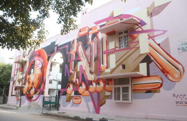 Street art in New Delhi