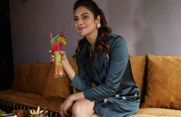 Kolkata: Actress Nusrat Jahan during the launch of a club bar in Kolkata on Aug 22, 2018 (Photo: IANS)