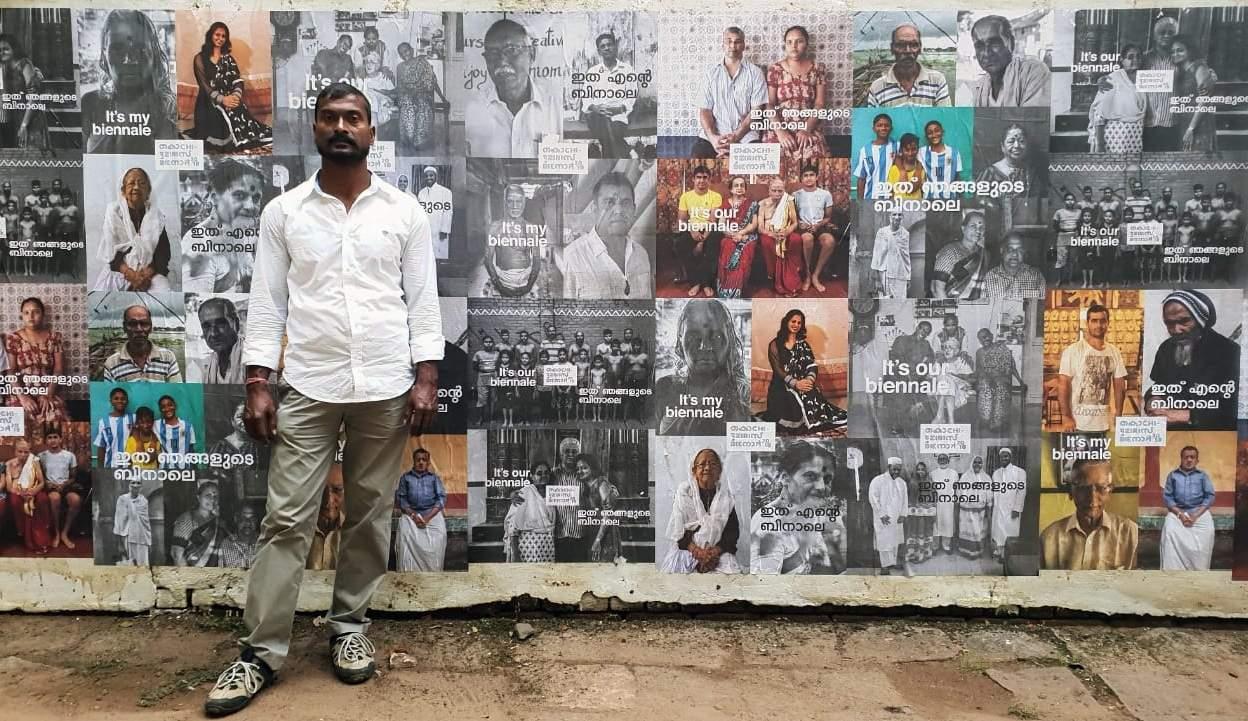 Bapi Das at the Kochi-Muziris Biennale