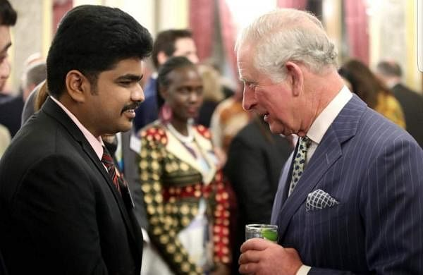 Padmanbhan Gopalan with Prince Charles