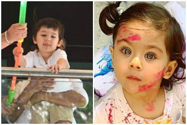 Celeb kids Taimur Ali Khan and Inaaya Naumi Kemmu celebrate Holi, pictures are too cute to miss