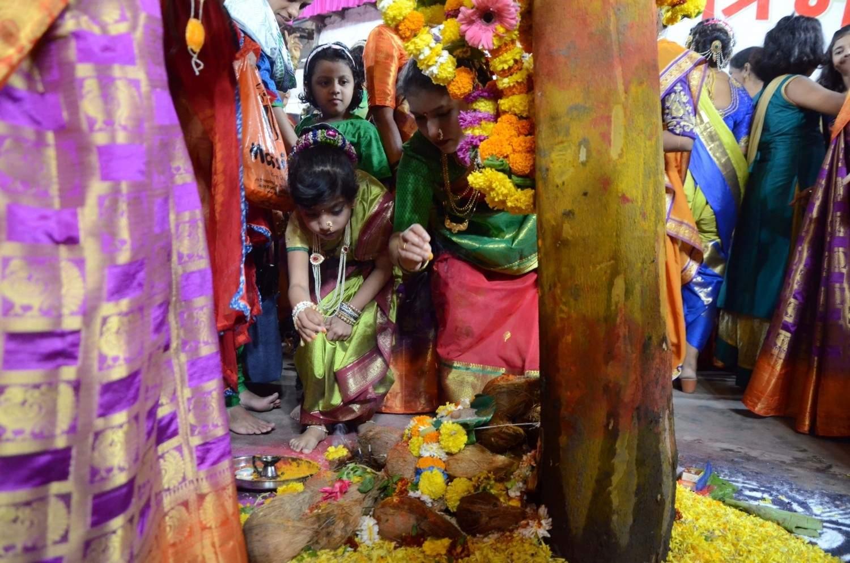 Mumbai: Holi celebrations underway at Mumbai's Worli Koliwada village, on March 20, 2019. (Photo: IANS)