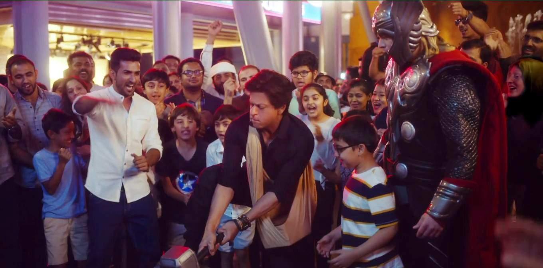 SRK joins Captain America, Iron Man, Thor in Dubai