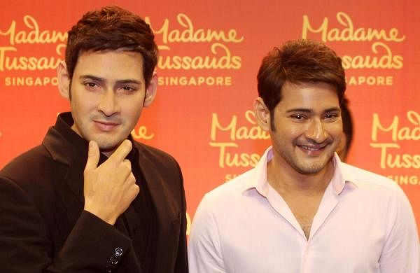 Mahesh Babu with his wax statue