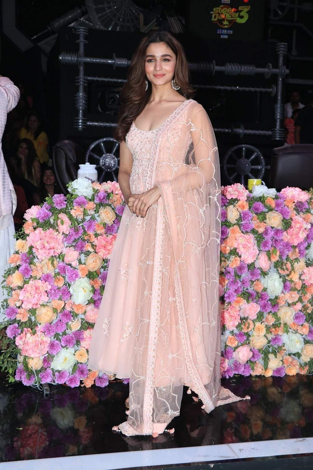 Alia Bhatt on the sets of Super Dancer Chapter 3 in Mumbai on March 25, 2019. (Photo: IANS)