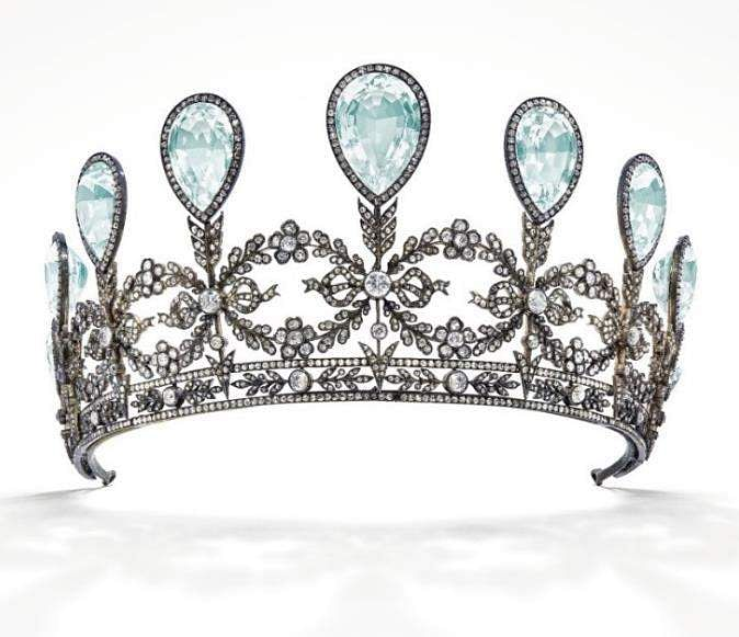 Aquamarine & Diamond Tiara, Fabergé, 1904/© Christie's Images Limited 2019