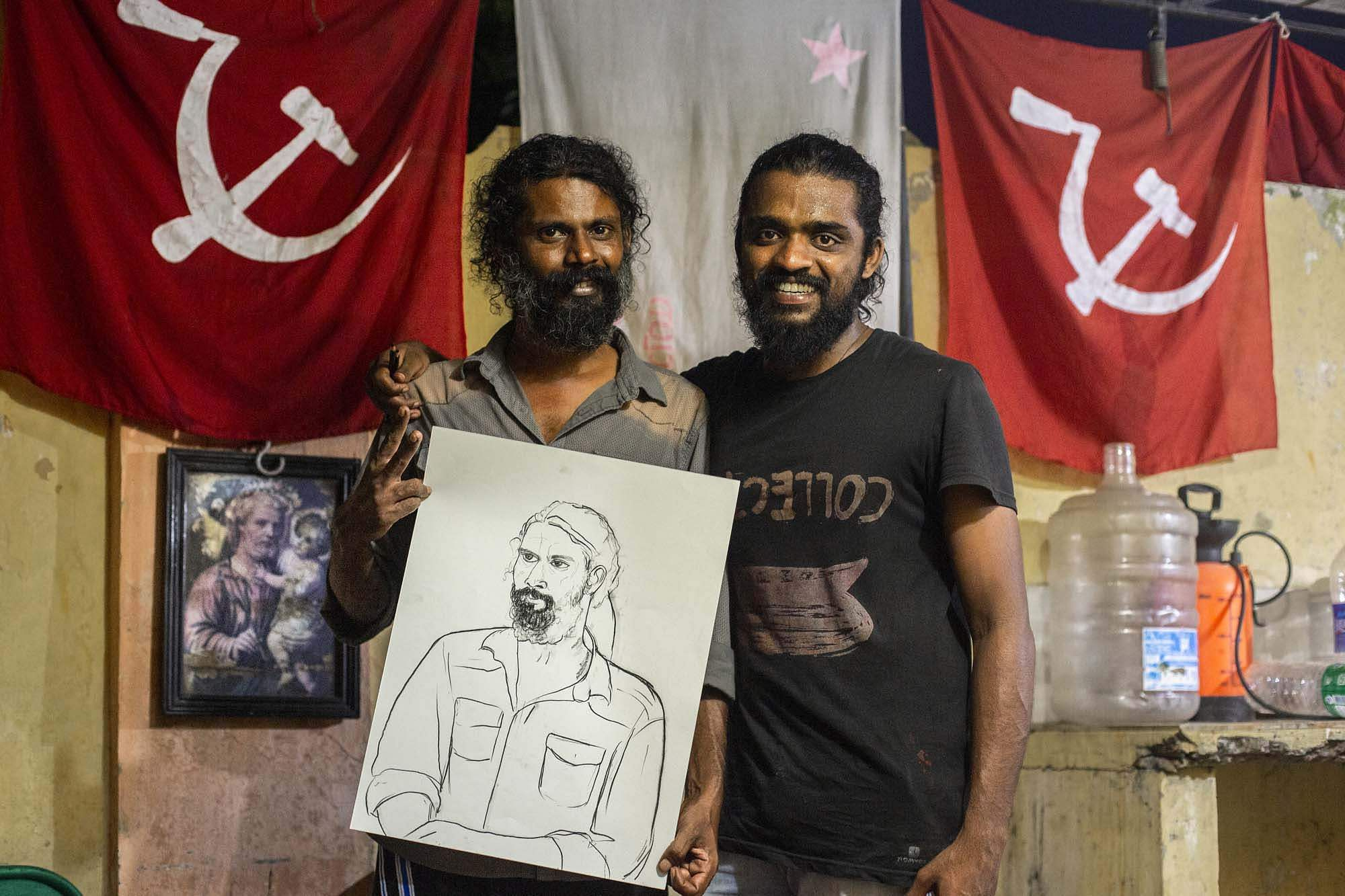 Vipin Dhanurdharan at the Biennale. All images courtesy Kochi Biennale Foundation.