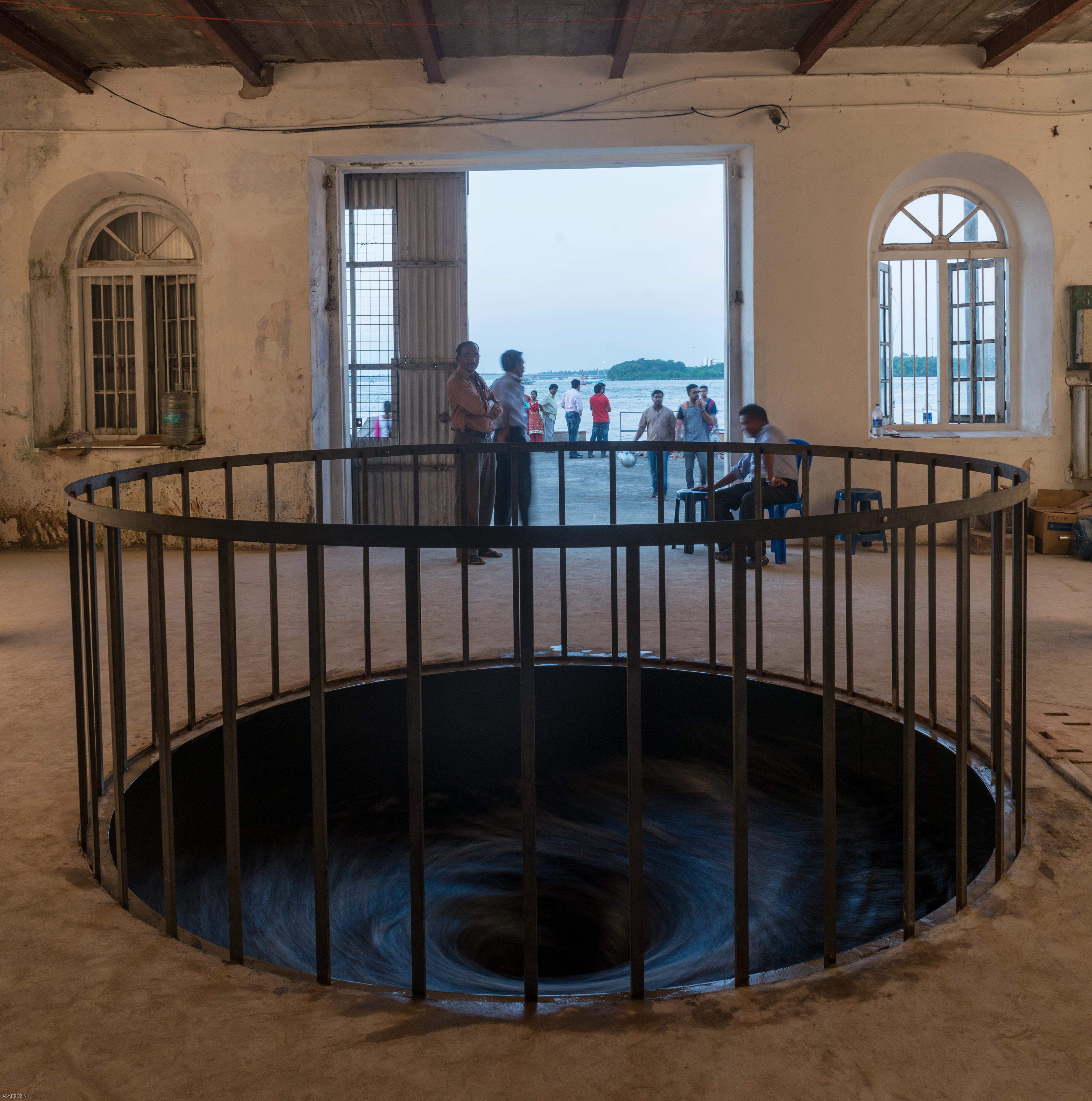 KMB 2014: Anish Kapoor's 'Descension' at Aspinwall House. All images courtesy Kochi Biennale Foundation.