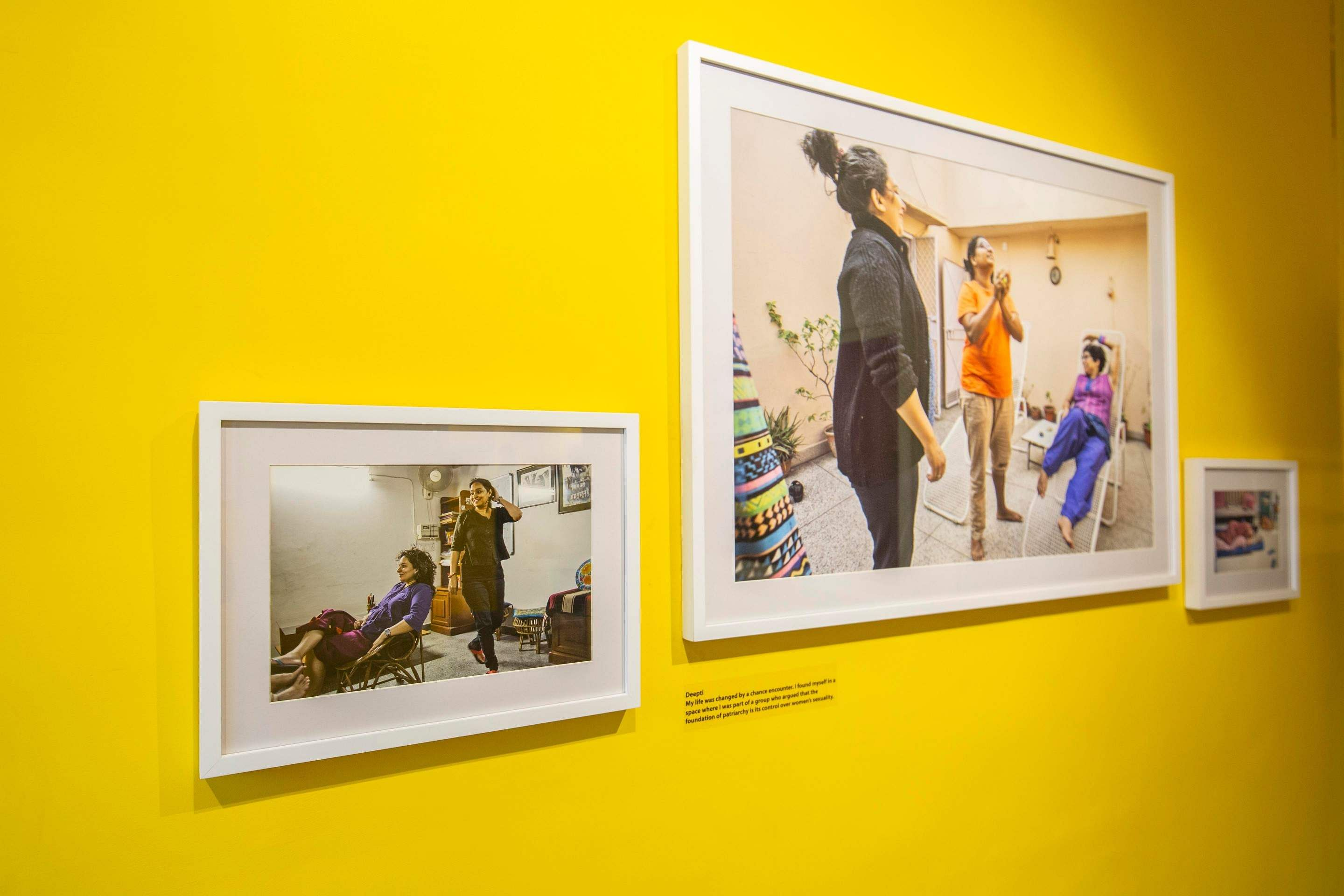 Works by Sunil Gupta and Charan Singh at the Biennale. All images courtesy Kochi Biennale Foundation.
