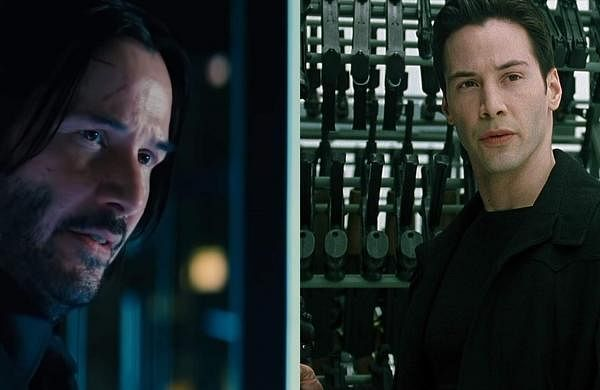 Clips from John Wick and The Matrix