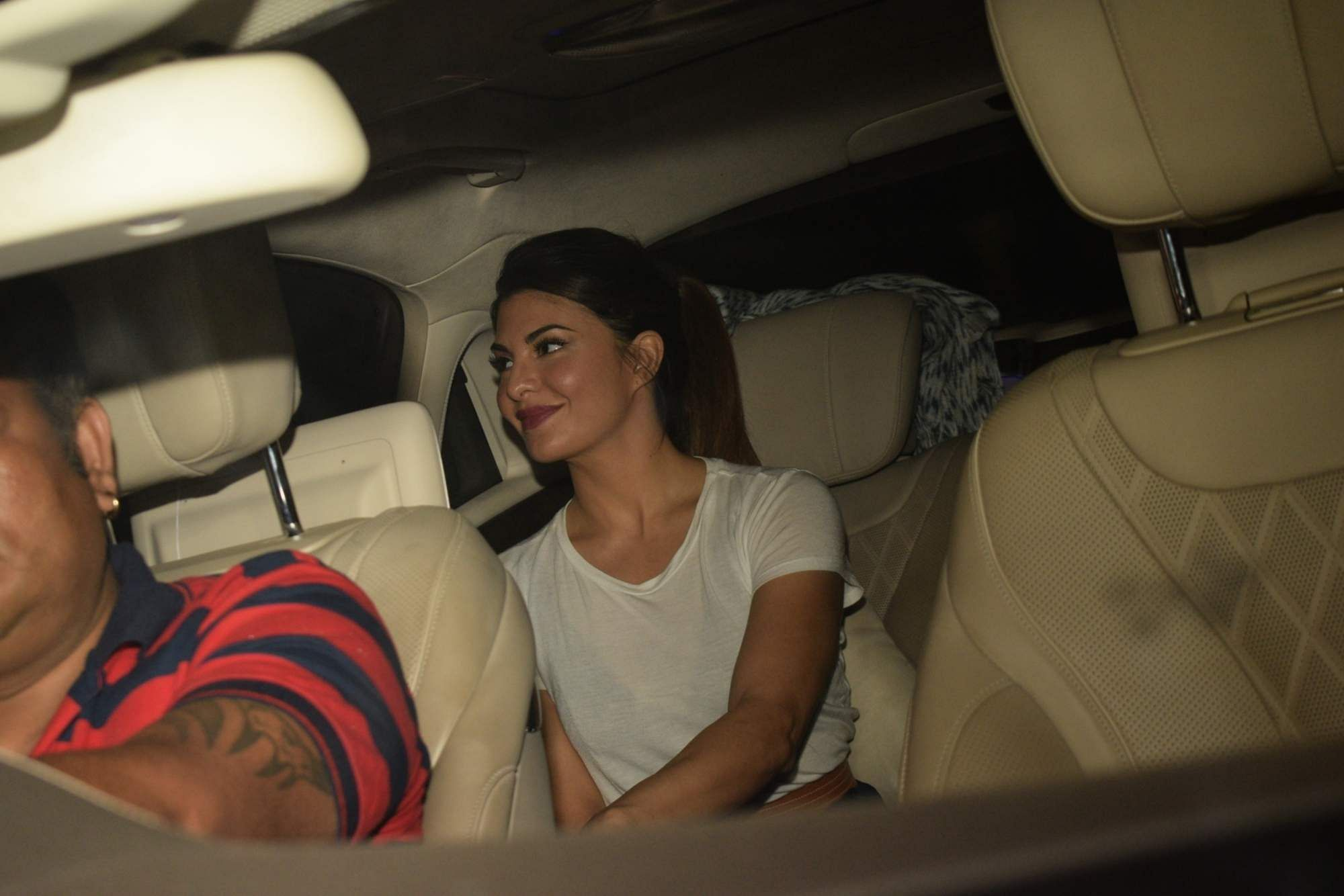 Mumbai: Jacqueline at a party hosted by celebrity manager Rohini Iyer for producer Guneet Monga to celebrate the Oscar win of her documentary Period. End Of Sentence. on March 21, 2019. (Photo: IANS)