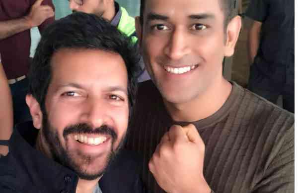Kabir Khan with Dhoni