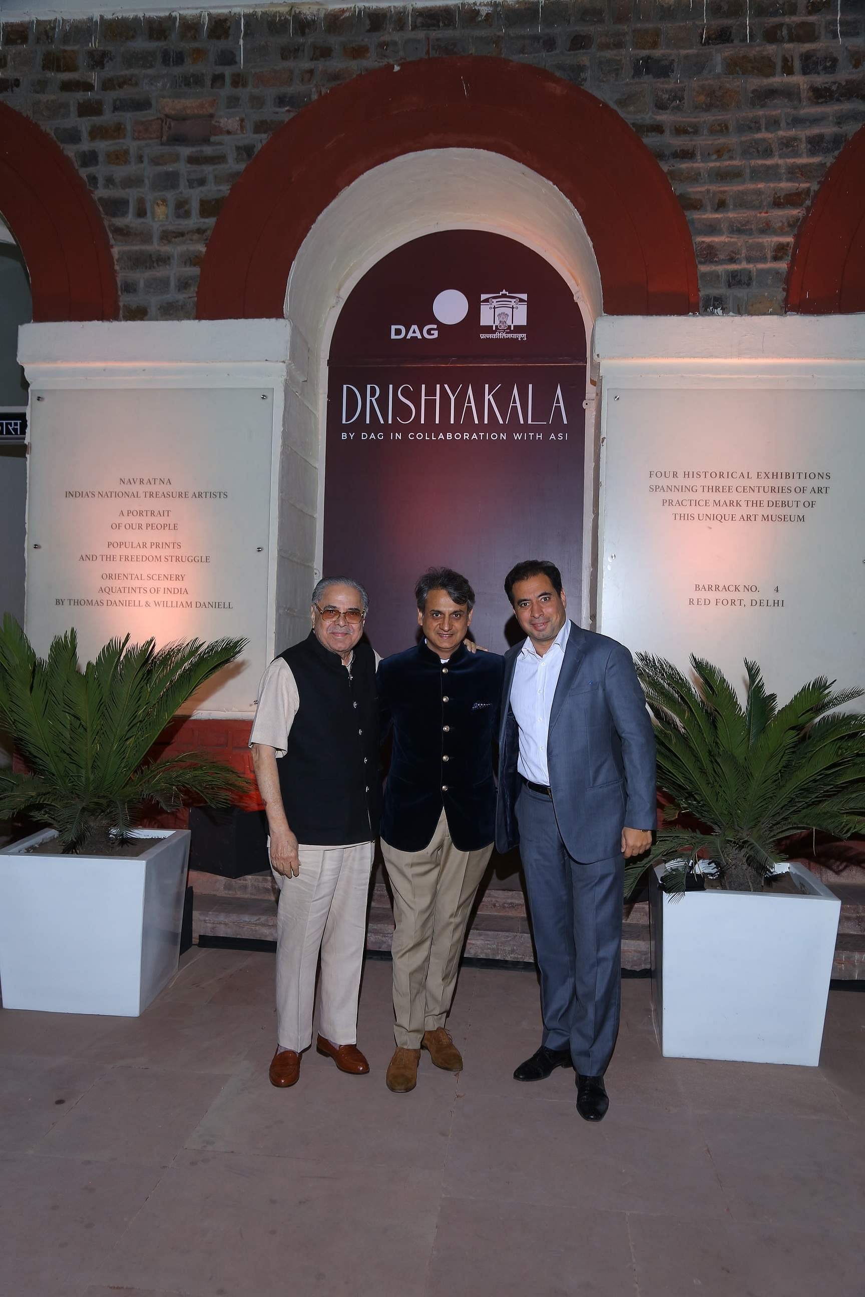 DAG patrons Mohit and Vivek Burman with CEO and MD of DAG Ashish Anand