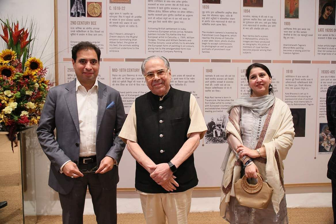 DAG patrons Mohit and Vivek Burman with Joint Secretary to the Ministry of Culture, Nirupama Kotru