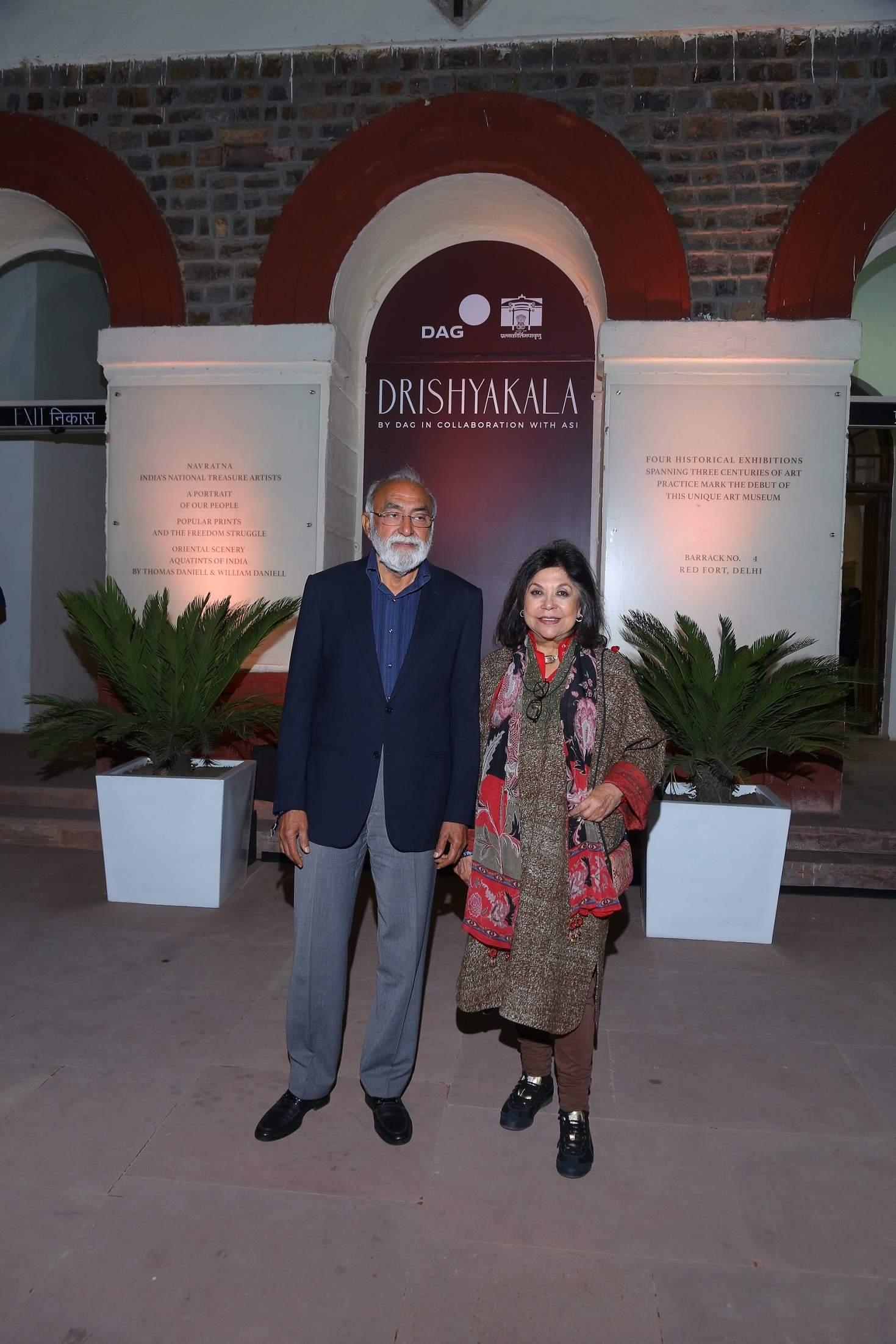 Designer Ritu Kumar with her husband Satish Kumar