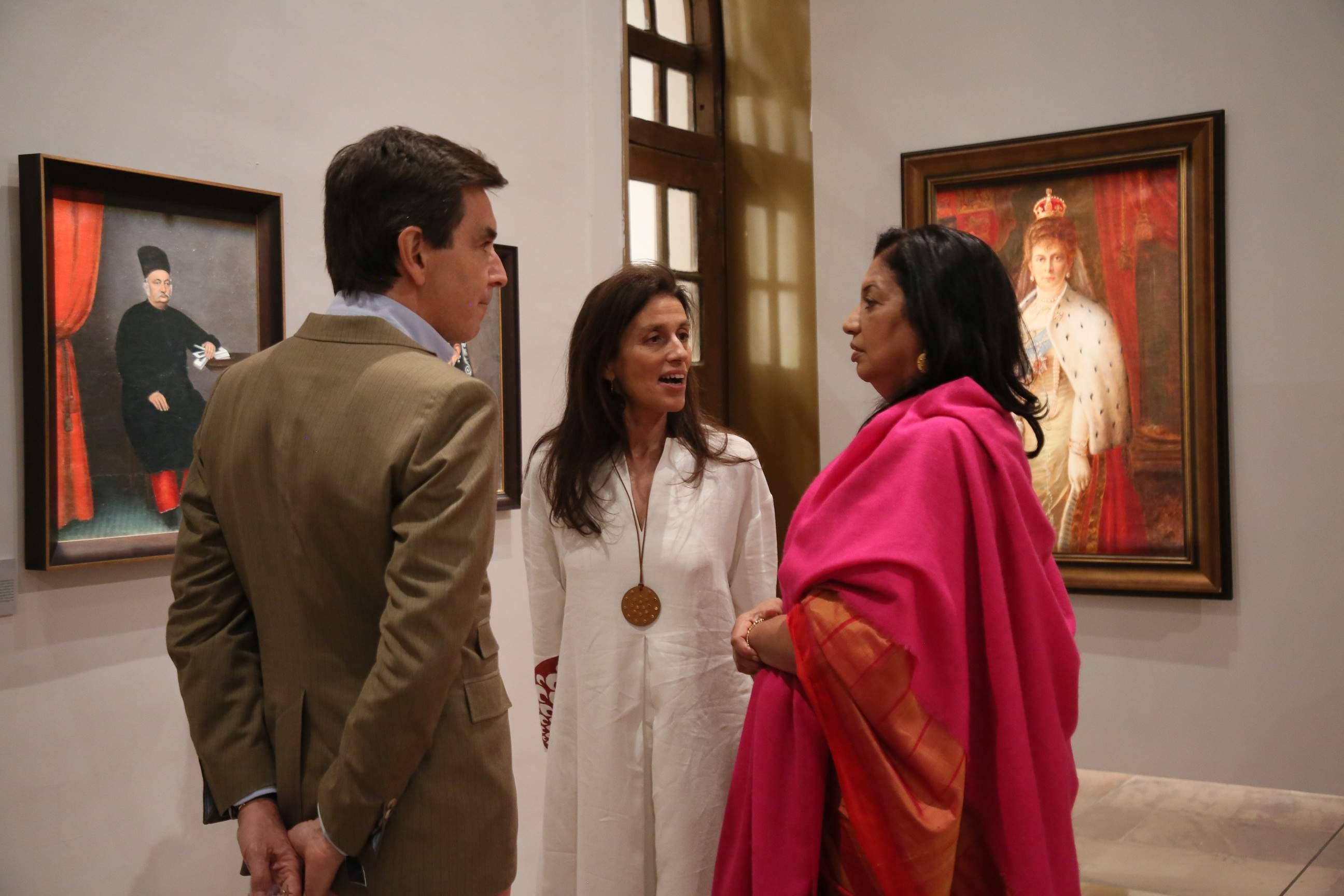 Guests at the galleries of Drishyakala