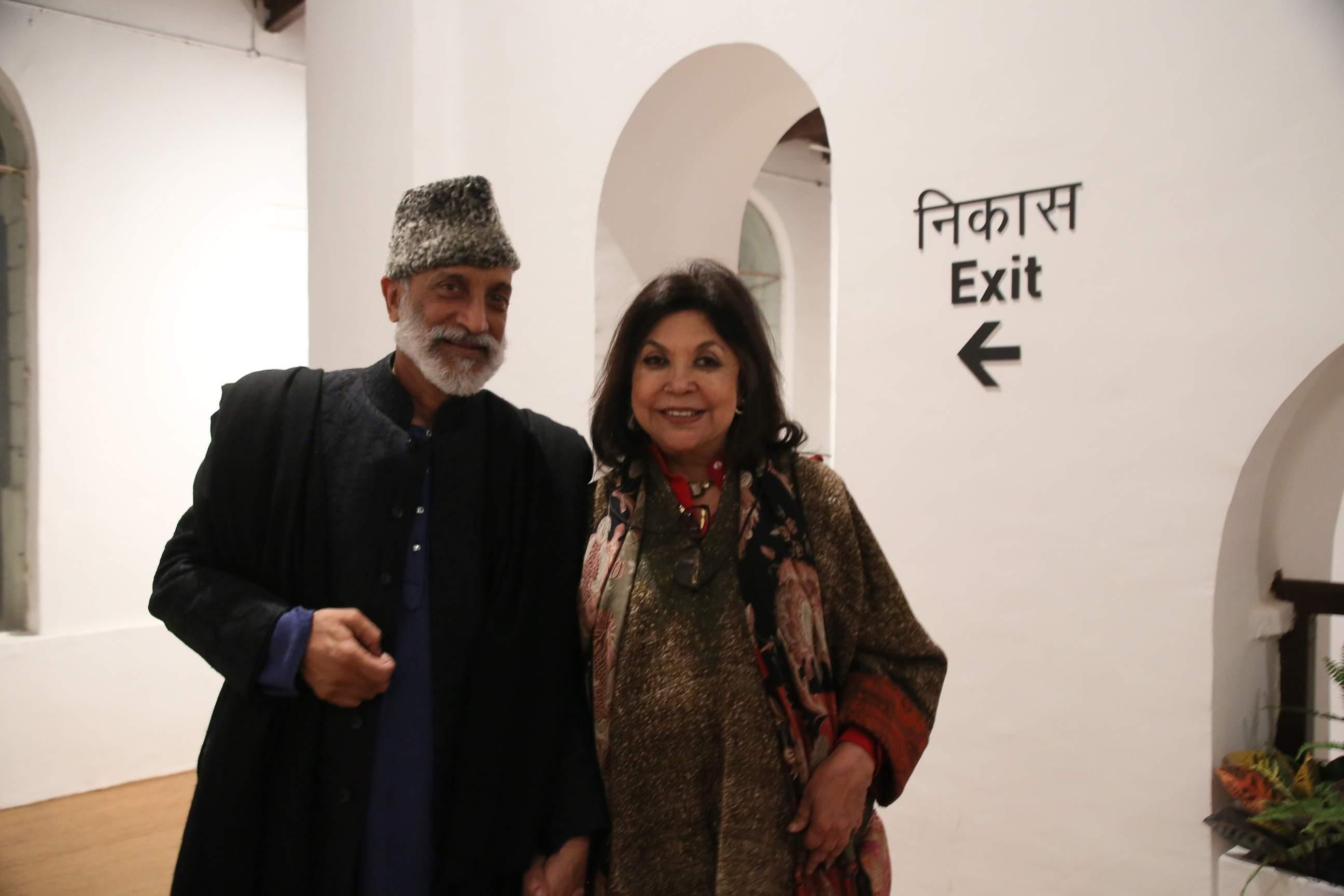 Hotelier Aman Nath and Designer Ritu Kumar
