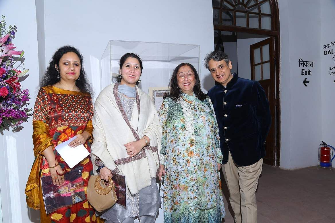 NGMA Director Ritu Sharma, Joint Secretary to the Ministry of Culture Nirupama Kotru, Art Collector Kiran Nadar and CEO and MD of DAG Ashish Anand