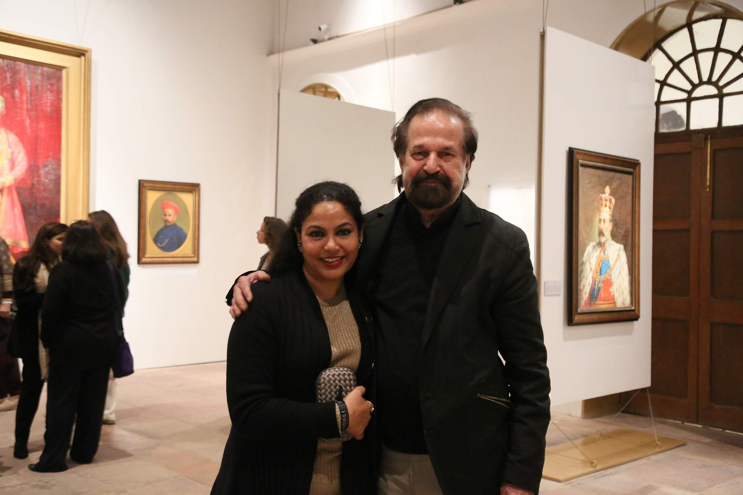 Artist Rameshwar Broota with a guest