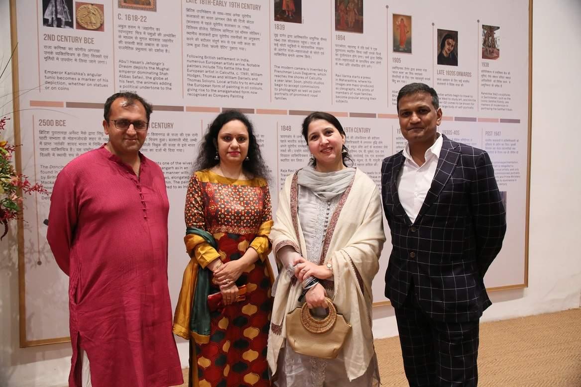 Ratish Nanda,Projects Director,Aga Khan Trust, Ritu Sharma,NGMA Director, Nirupama Kotru, Joint Sec.,Ministry of Culture _ Ashok Adiceam, Sr. VP DAG