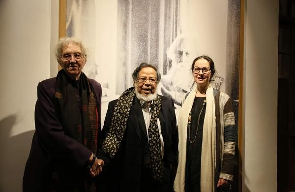 Artist Shakti Burman with Maiti Delteil and daughter Maya Burman