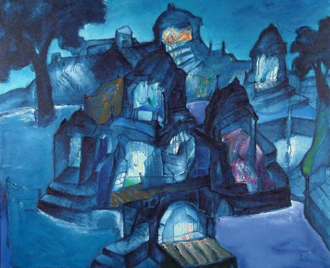 Banaras, The City of Lights; photo courtesy of the artist, Art & Soul gallery and NGMA, Mumbai