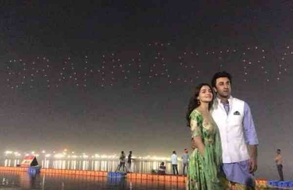 Alia Bhatt and Ranbir Kapoor at Prayagraj