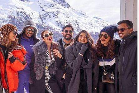 Malaika with the Kapoors