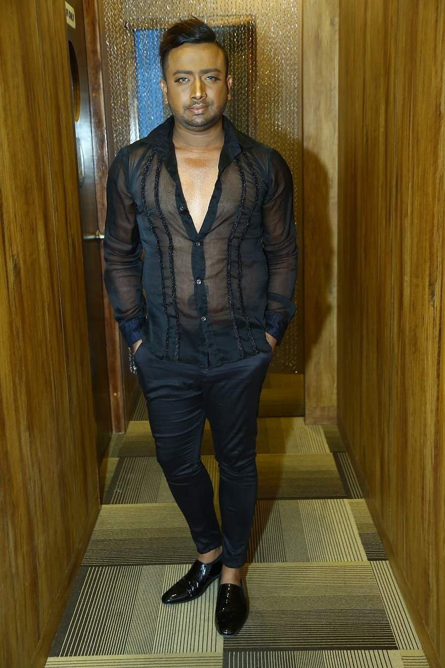 Karun Raman at the launch party of a beauty pageant in LiBarrel