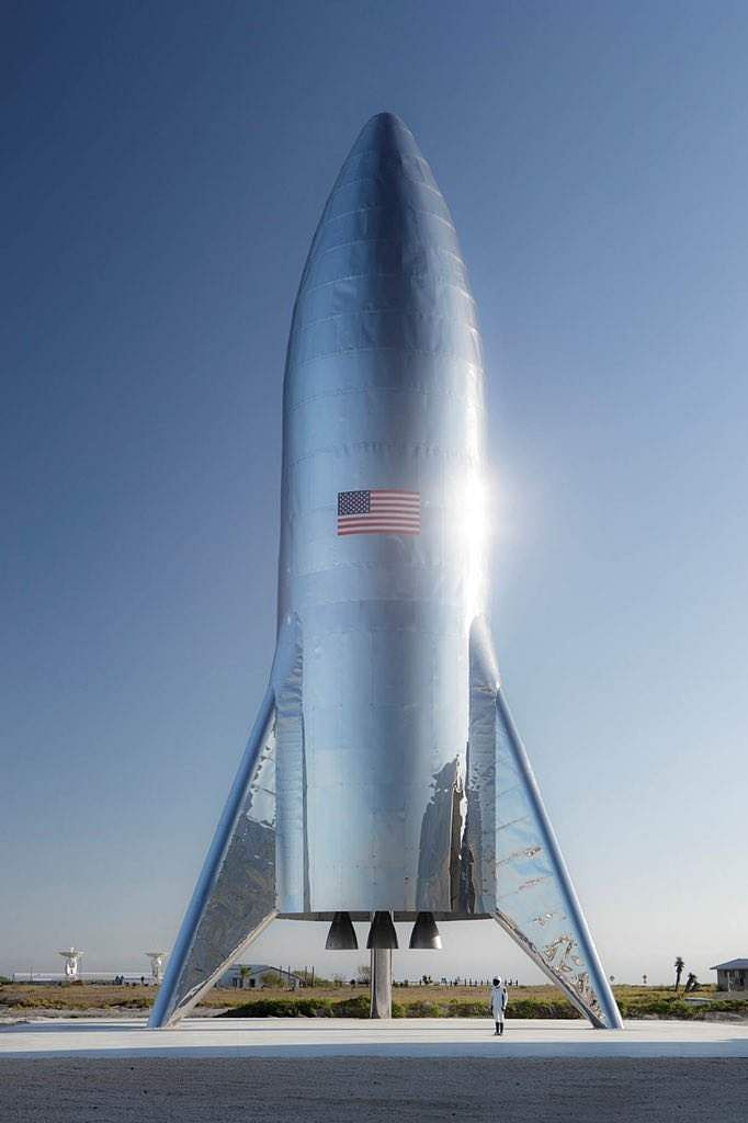 File photo: SpaceX CEO Elon Musk offers a glimpse of the company's Starship test flight rocket, dubbed the Hopper (Pic: IANS)