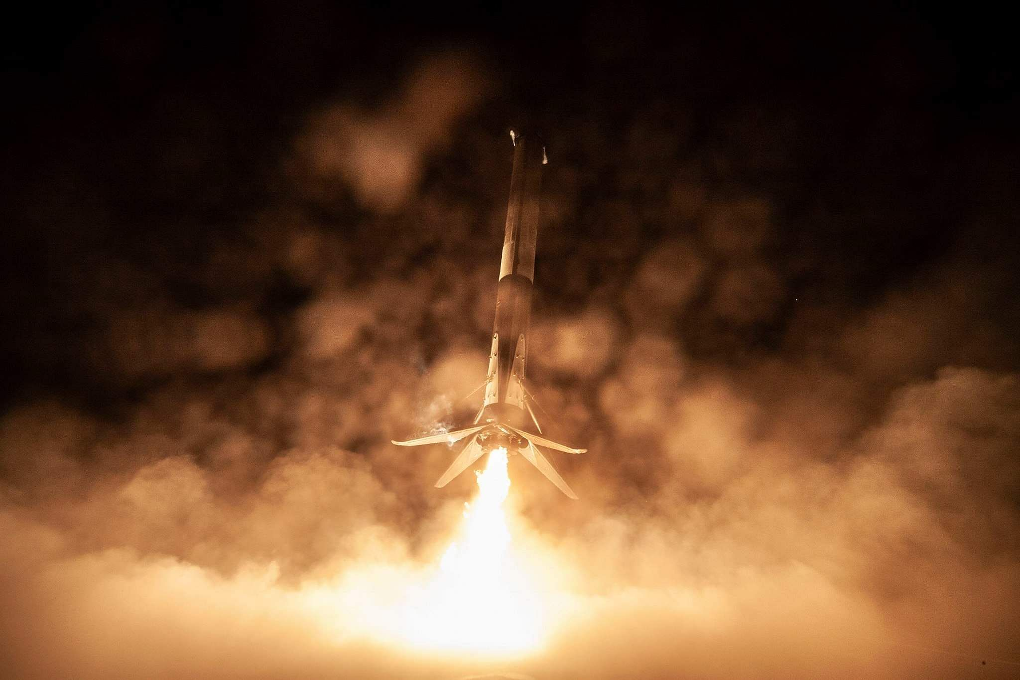 After launching Crew Dragon on its first test flight to ISS, Falcon 9 lands on Of Course I Still Love You droneship — completing SpaceX's 35th recovery of an orbital class rocket booster. Pic: SpaceX