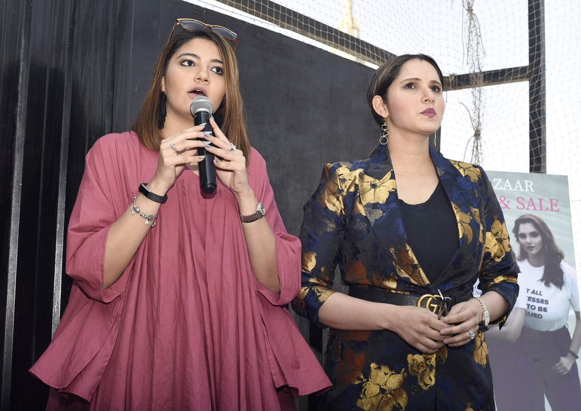 Sania Mirza's sister Anam Mirza in Bengaluru (Photo: IANS)