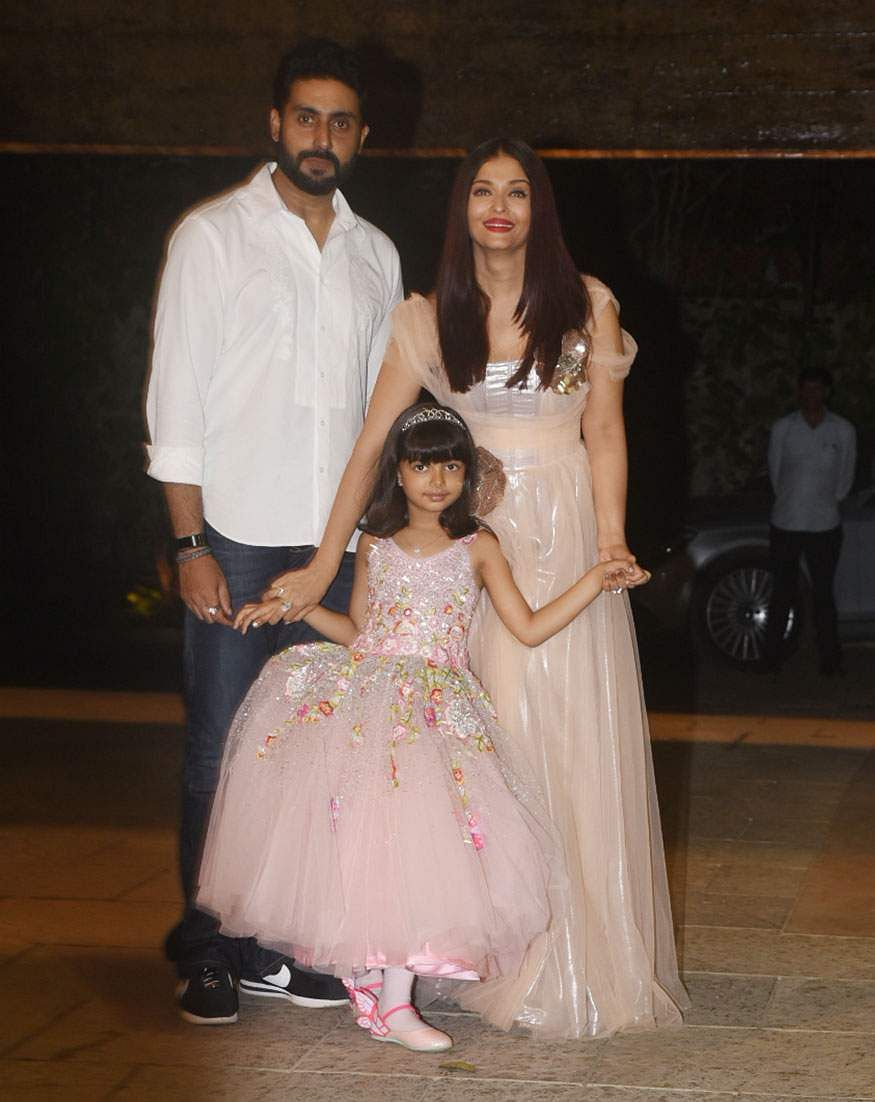Abhishek Bachchan, Aishwarya Rai Bachchan and their daughter Aaradhya