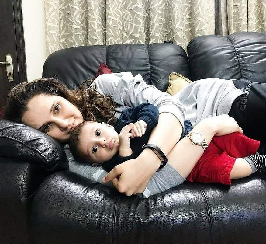Sania Mirza with son Izhaan Mirza Malik