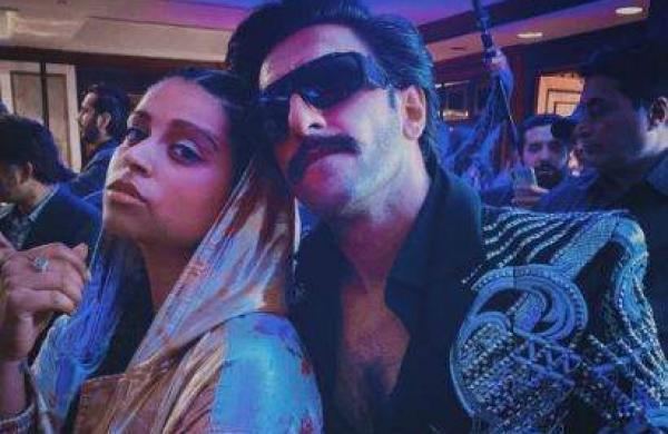 Lilly Singh and Ranveer Singh in Mumbai