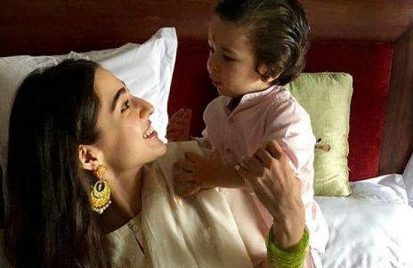 Sara Ali Khan and half-brother Taimur Ali Khan