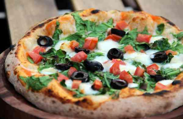 Zza Bar Spinach & Feta Pizza