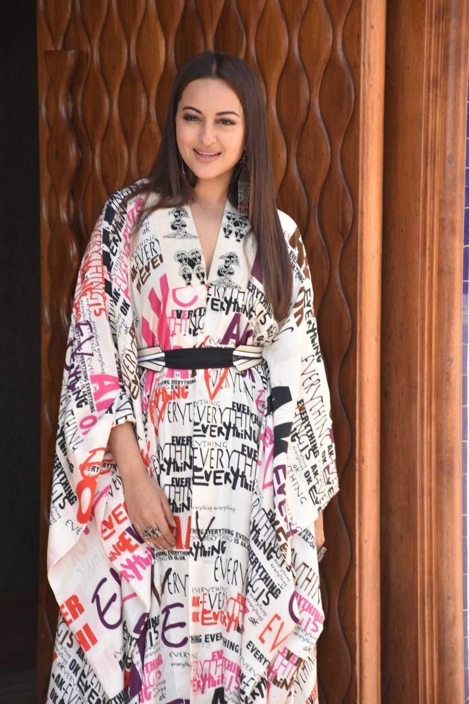 Mumbai: Sonakshi Sinha during the promotions of her upcoming film, Kalank. (Photo: IANS)