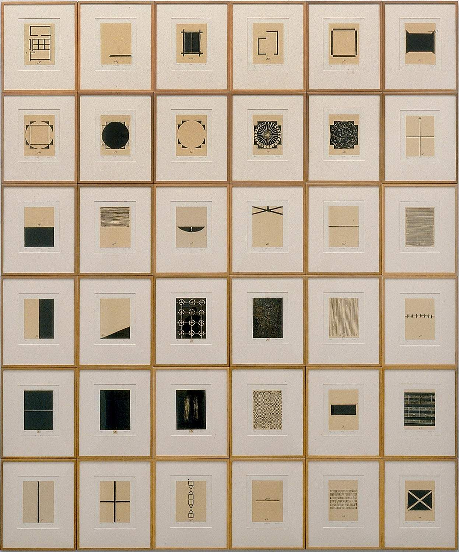 Zarina Hashmi's Home is a Foreign Place at the Ishara Art Foundation, Dubai.