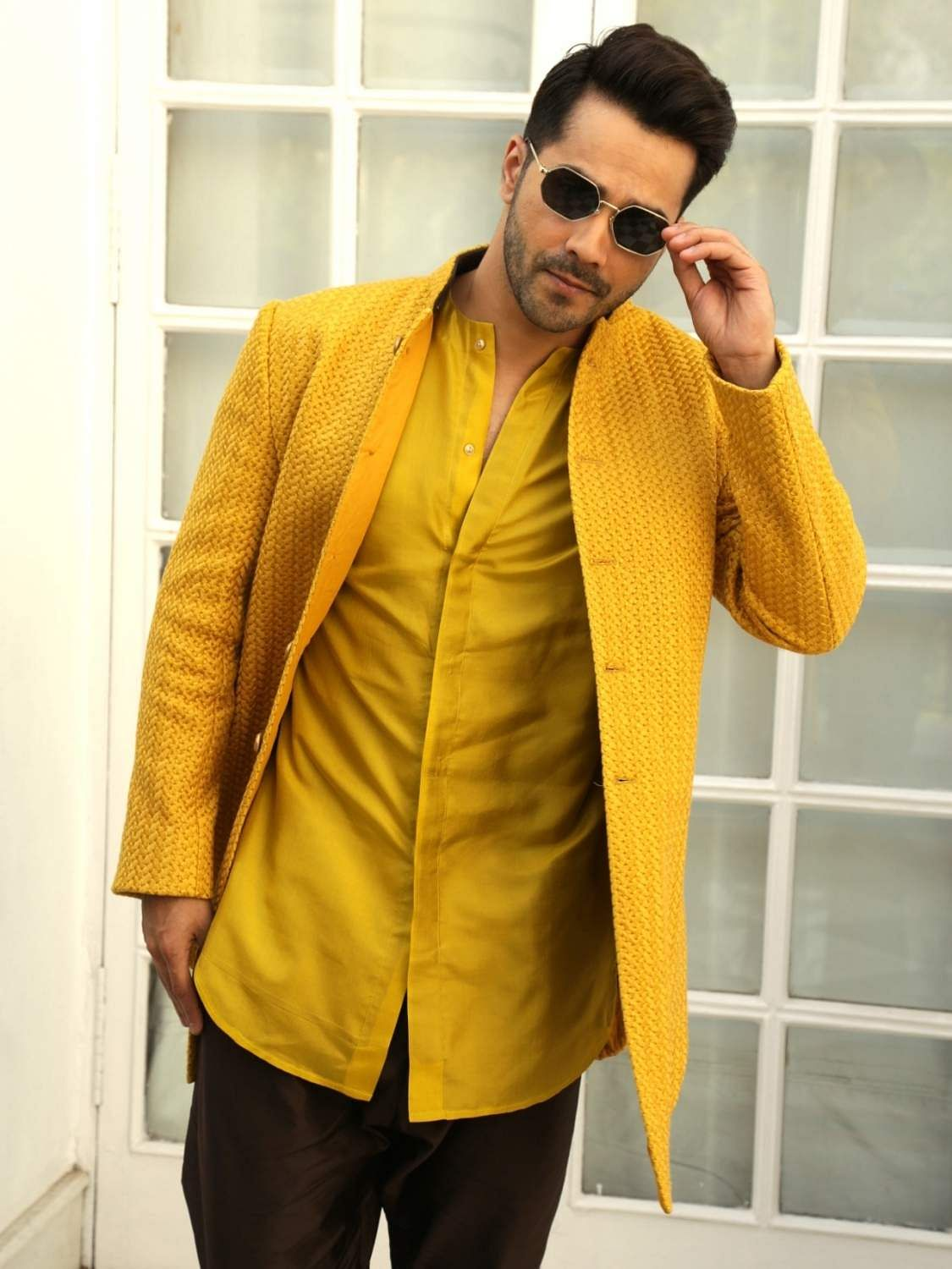 New Delhi: Actor Varun Dhawan at a photo shoot during the promotions of her upcoming film 'Kalank' in New Delhi, on April 13, 2019. (Photo: (Amlan Paliwal/IANS)