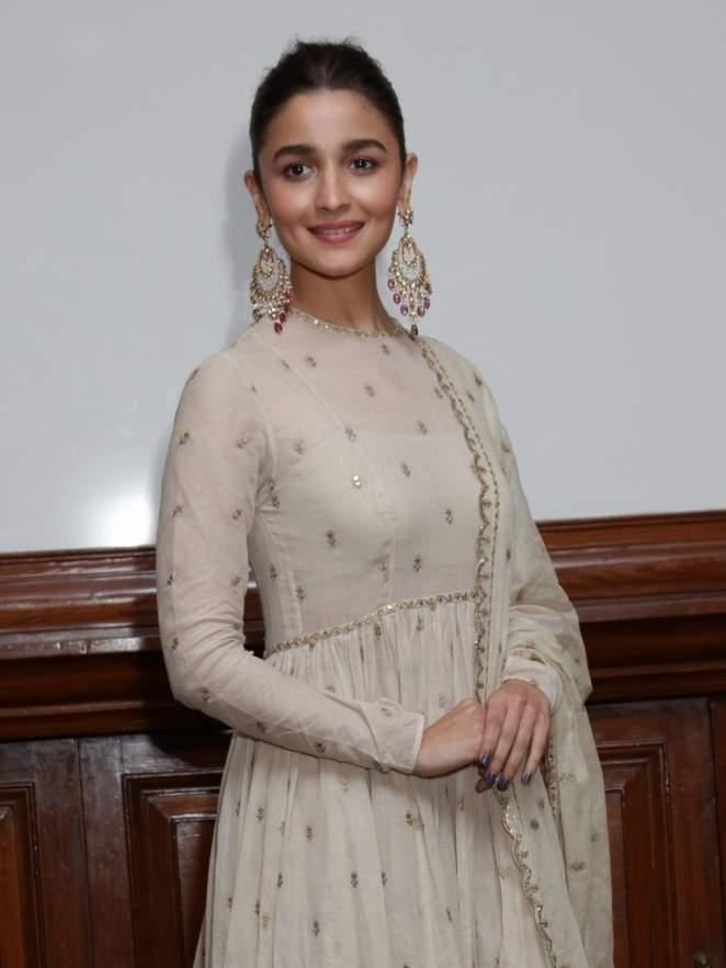 New Delhi: Actress Alia Bhatt during a programme organised to promote upcoming film 'Kalank' in New Delhi, on April 12, 2019. (Photo: Amlan Paliwal/IANS)